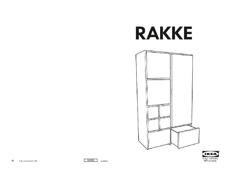 rakke armoire penderie plaqu bouleau ikea france. Black Bedroom Furniture Sets. Home Design Ideas