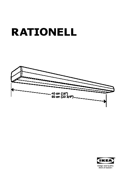 RATIONELL Illuminazione sottopensile a LED color alluminio color ...
