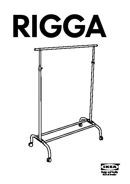 RIGGA Portant couleur argent (IKEA France) IKEAP