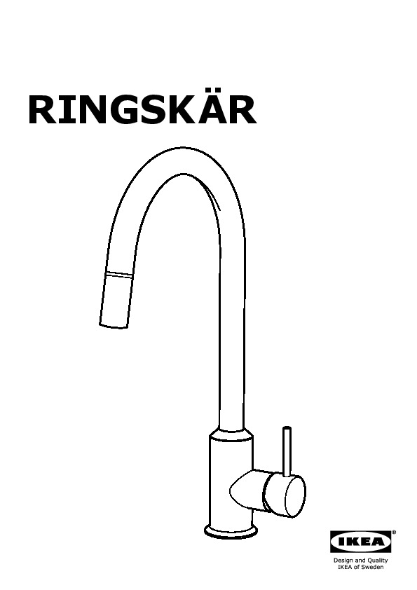 RINGSKÄR Kitchen faucet with pull-out spout pull-out stainless ...