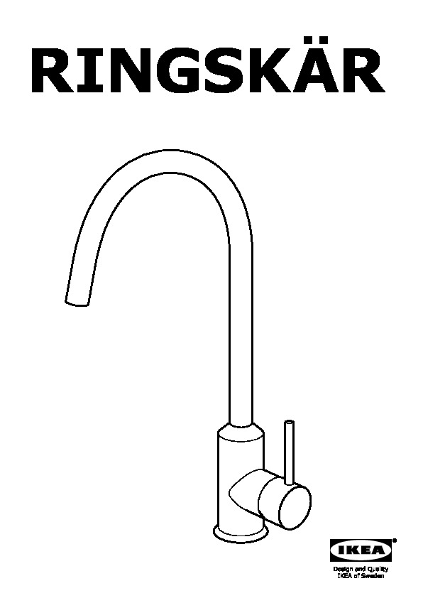 Ringsk 196 R Single Lever Kitchen Mixer Tap Chrome Plated