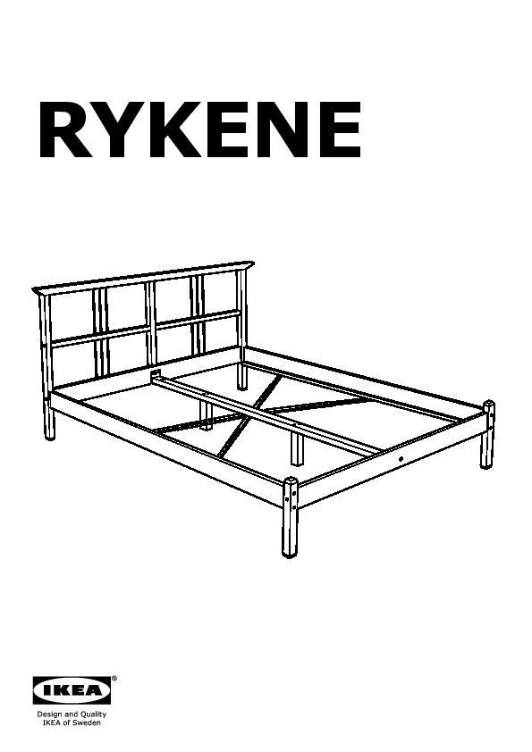 Rykene Cadre De Lit Gris Brun Ikea France Ikeapedia