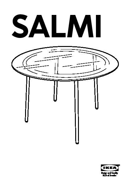 Salmi Table Verre Chromé Ikea France Ikeapedia