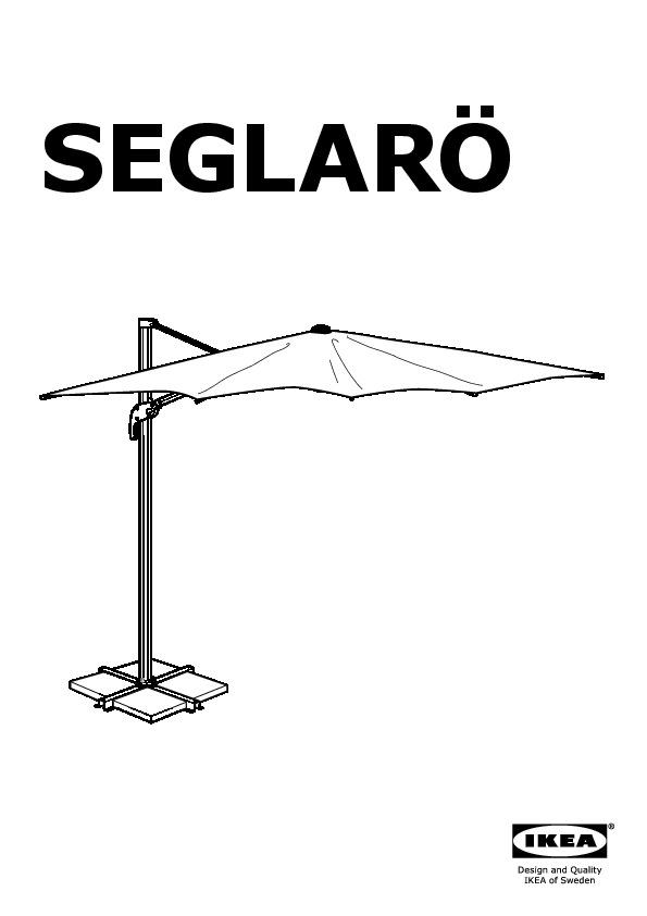 SEGLARÖ Parasol déporté beige (IKEA France)   IKEAPEDIA