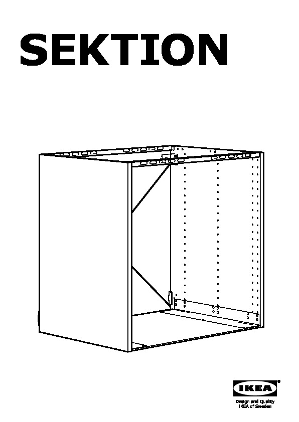 SEKTION Base cabinet for oven white (IKEA United States) - IKEAPEDIA