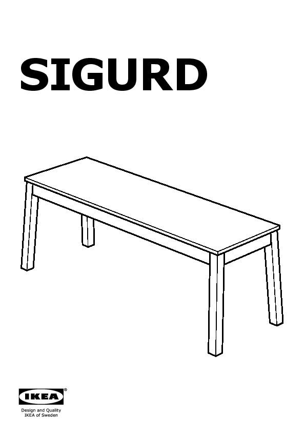 Awe Inspiring Sigurd Bench White Ikea United Kingdom Ikeapedia Bralicious Painted Fabric Chair Ideas Braliciousco