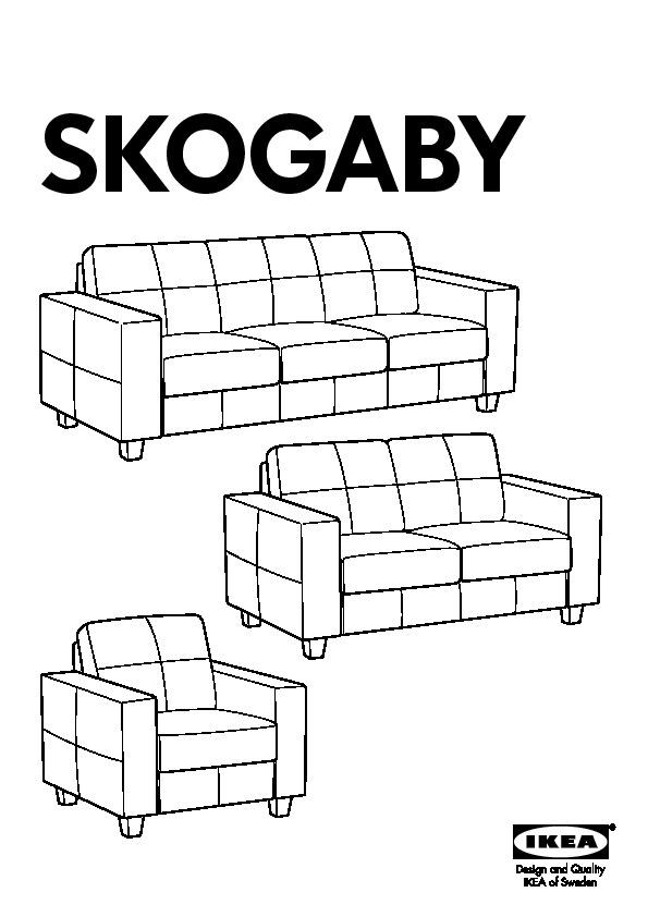 Divano Pelle Ikea 3 Posti.Skogaby Divano A 3 Posti Robust Nero Ikea Italy Ikeapedia