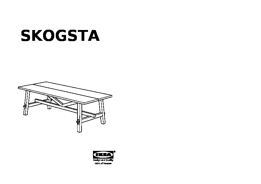 Skogsta Dining Table Acacia Ikea United Kingdom Embly