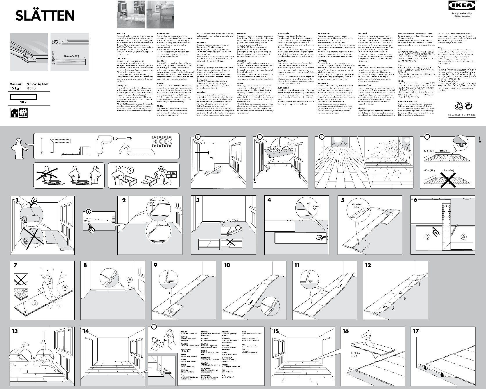SLÄTTEN Sol stratifié motif chêne (IKEA France) - IKEAPEDIA