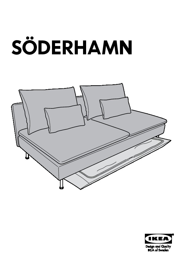 s derhamn sofa bed isunda orange ikea united kingdom ikeapedia. Black Bedroom Furniture Sets. Home Design Ideas