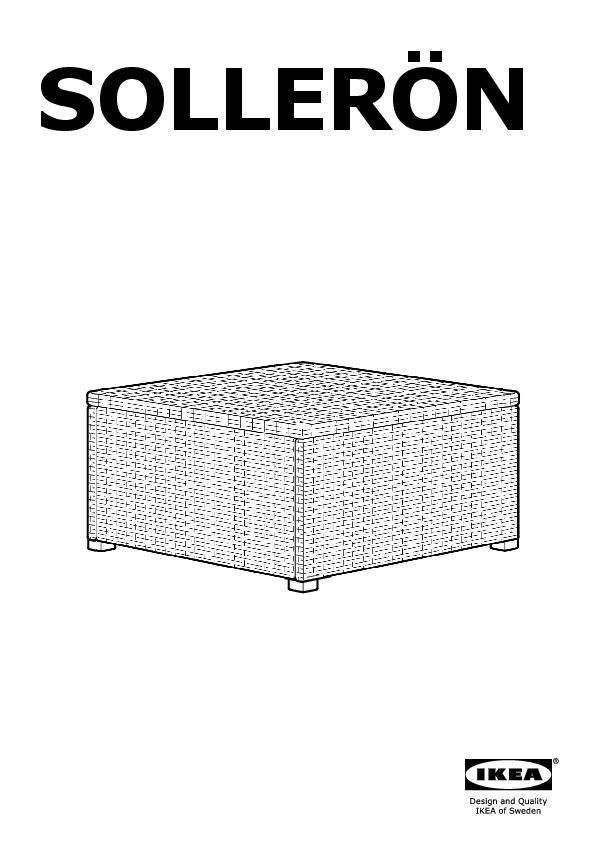SOLLERÖN stool, outdoor