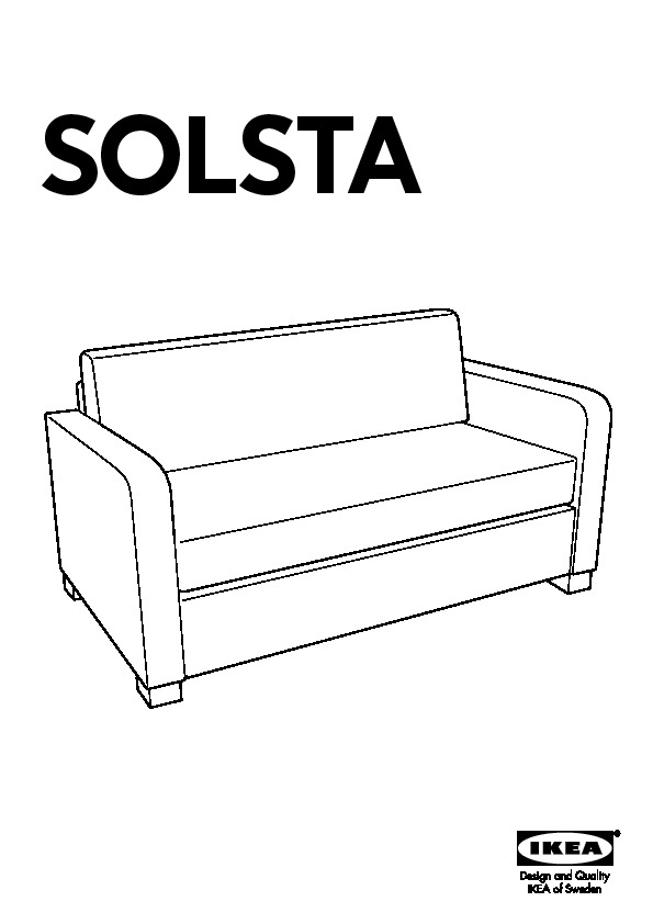 Fabulous Solsta Two Seat Sofa Bed Ransta Dark Grey Ikea United Gmtry Best Dining Table And Chair Ideas Images Gmtryco