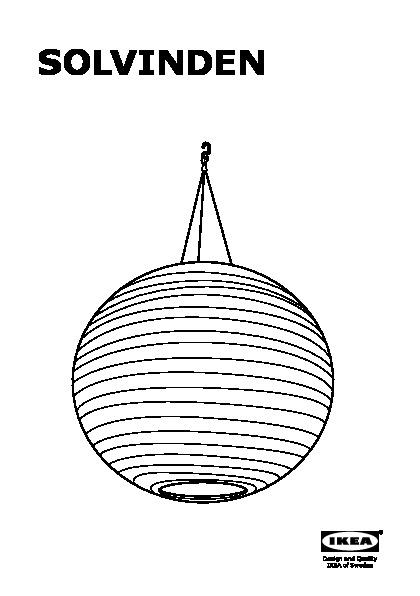 solvinden suspension solaire del sph rique blanc ikea. Black Bedroom Furniture Sets. Home Design Ideas