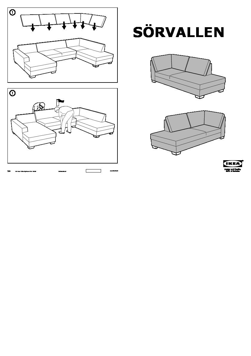 s rvallen canap en u ten gris clair ikea switzerland. Black Bedroom Furniture Sets. Home Design Ideas