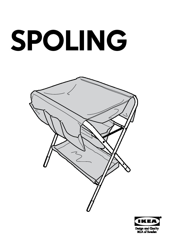Spoling Changing Table Black White Ikea United States