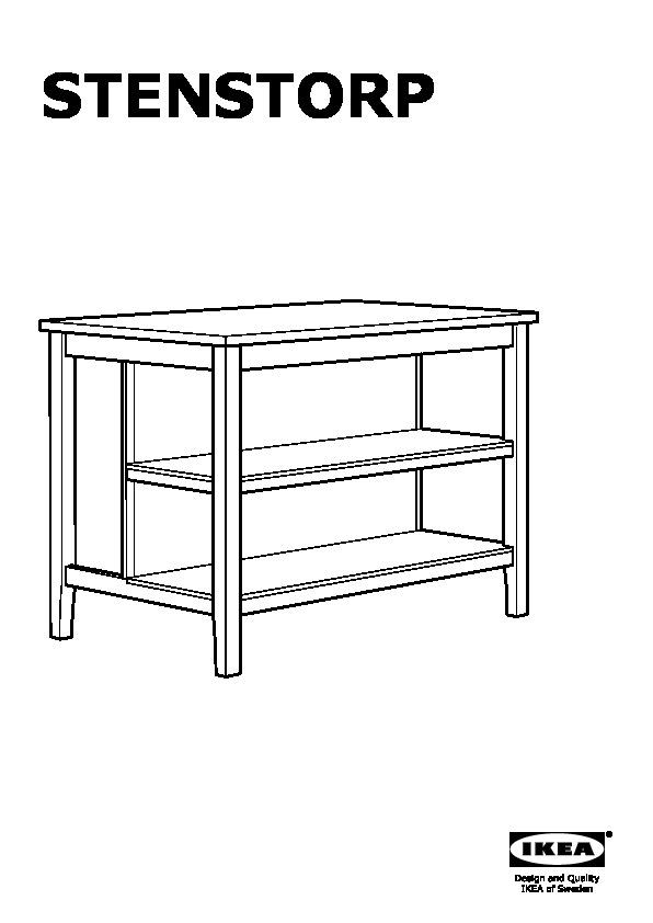 STENSTORP Isola per cucina bianco, rovere (IKEA Italy ...