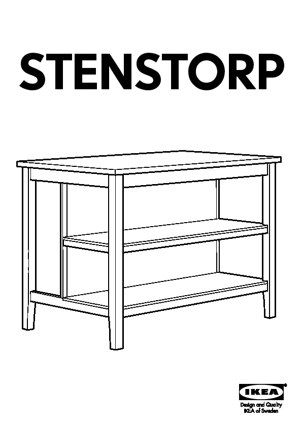 STENSTORP Kitchen island white, oak (IKEA United States ...