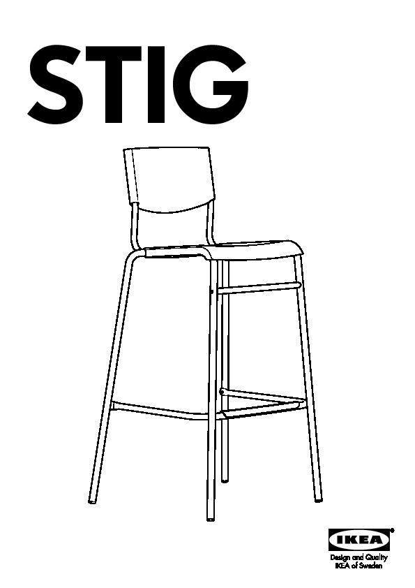 Groovy Stig Bar Stool With Backrest Black Silver Color Ikea Gmtry Best Dining Table And Chair Ideas Images Gmtryco