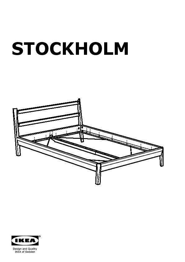Stockholm Bed Frame Brown