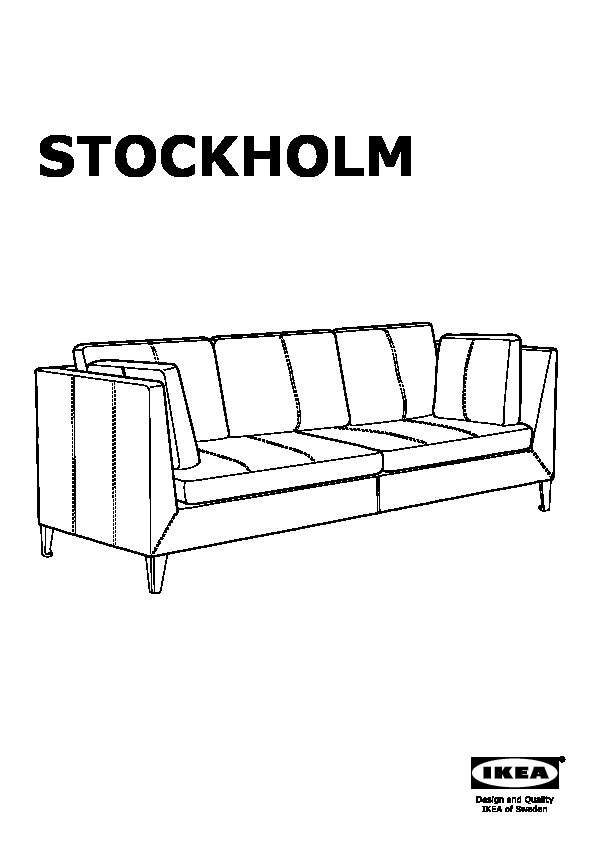 stockholm canap 3 places seglora brun fonc ikea france. Black Bedroom Furniture Sets. Home Design Ideas