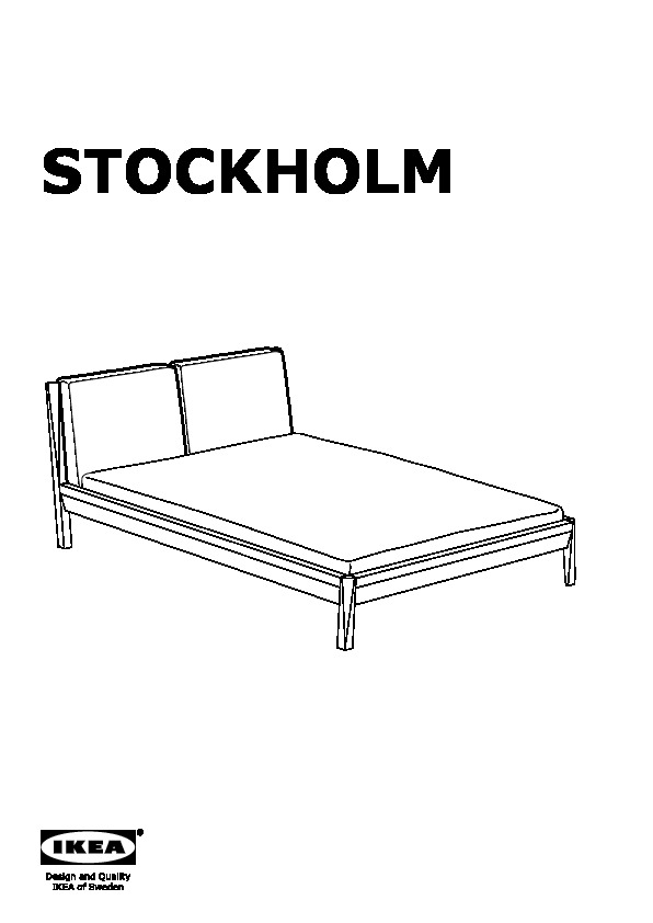 stockholm bed frame stained ash seglora dark brown ikea united states ikeapedia. Black Bedroom Furniture Sets. Home Design Ideas