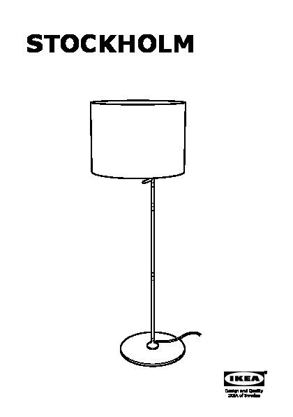 STOCKHOLM Floor lamp with LED bulb white (IKEA United States ...
