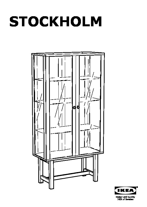 Stockholm Glass Door Cabinet