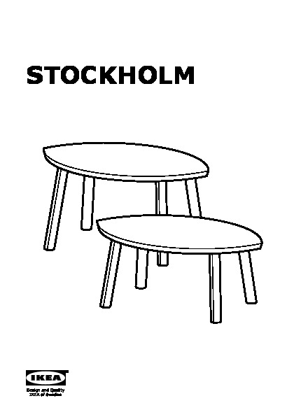 Stockholm Tables Gigognes Lot De 2 Plaqué Noyer Ikea France