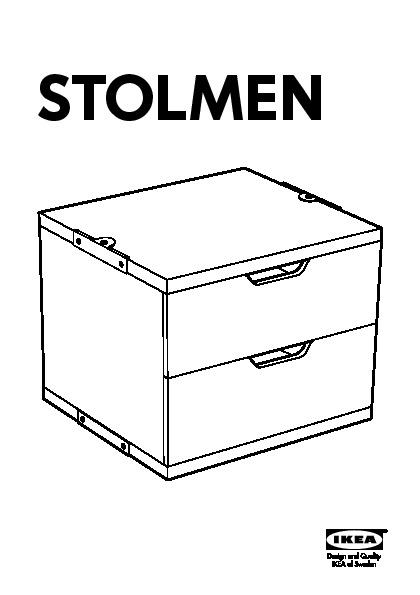 Stolmen 3 sezioni bianco ikea italy ikeapedia for Stolmen cassettiera