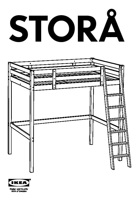 storÅ loft bed frame white stain (ikea united states) - ikeapedia