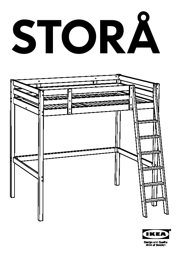 stor structure lit mezzanine teint blanc ikea france ikeapedia. Black Bedroom Furniture Sets. Home Design Ideas