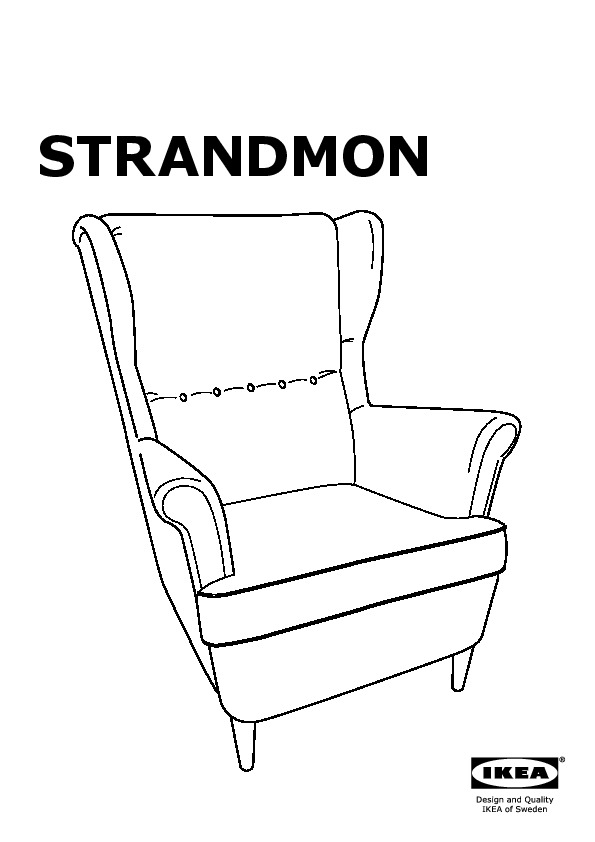 strandmon fauteuil oreilles svanby gris ikea france. Black Bedroom Furniture Sets. Home Design Ideas