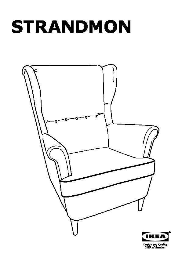 Fauteuil Ikea Strandmon Vert.Strandmon Wing Chair Skiftebo Green Ikea United States