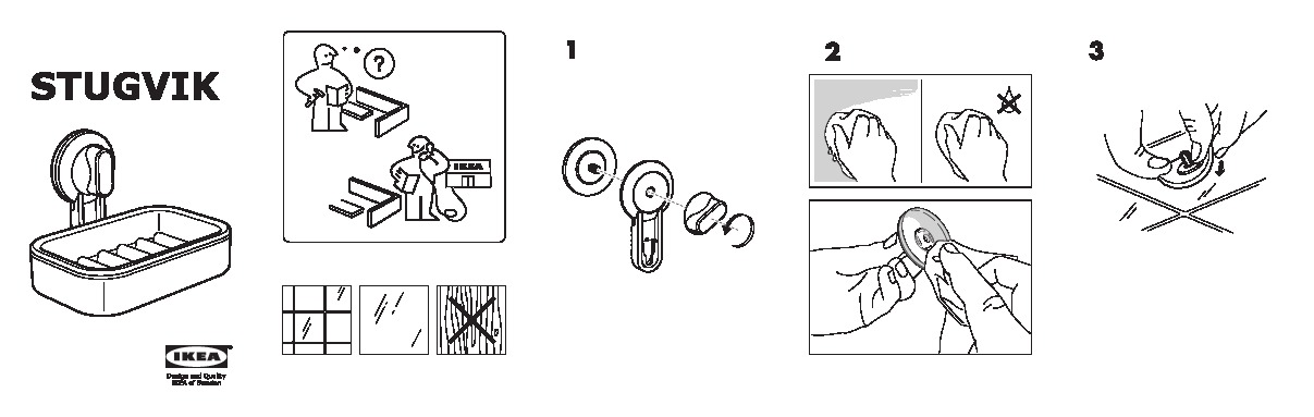 ikea suction cup instructions
