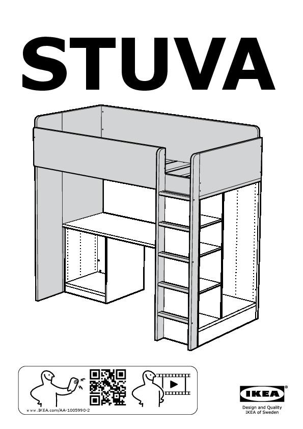 stuva combi lit mezz 1 tir 2 ptes blanc ikea france ikeapedia. Black Bedroom Furniture Sets. Home Design Ideas