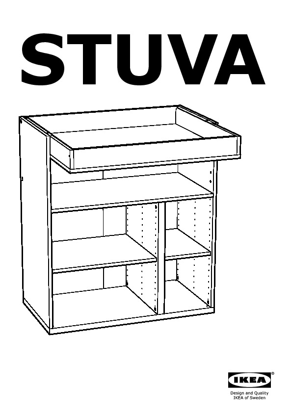 Stuva Changing Table With 3 Drawers White Yellow Ikea