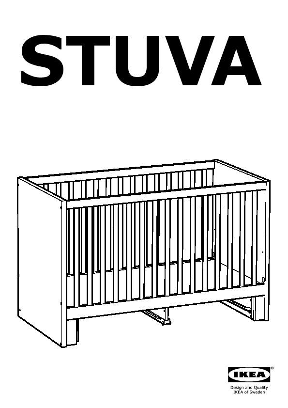 Stuva Crib With Drawers White Ikea United States Ikeapedia
