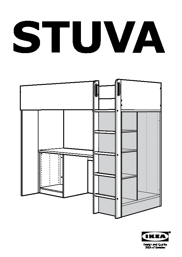 Stuva Fritids Loft Bed With 3 Drawers 2 Doors White Light Pink Ikeapedia