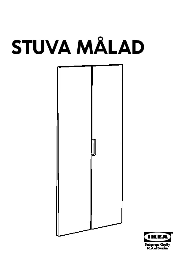 stuva m lad door black ikea united states ikeapedia. Black Bedroom Furniture Sets. Home Design Ideas
