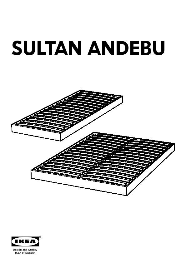 sultan andebu sommier tapissier lattes blanc ikea france. Black Bedroom Furniture Sets. Home Design Ideas