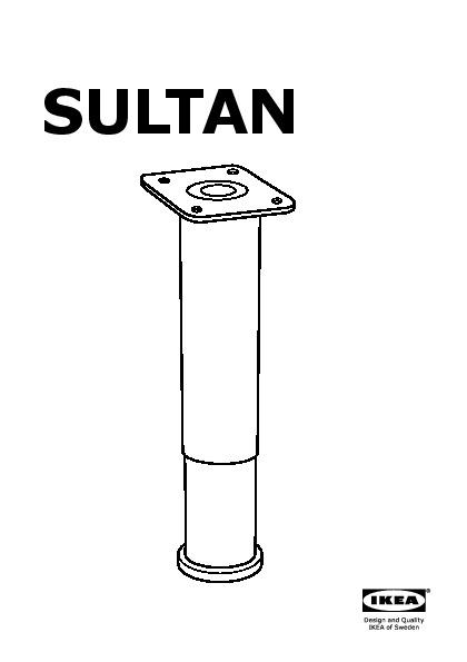sultan pied de soutien noir ikea france ikeapedia. Black Bedroom Furniture Sets. Home Design Ideas