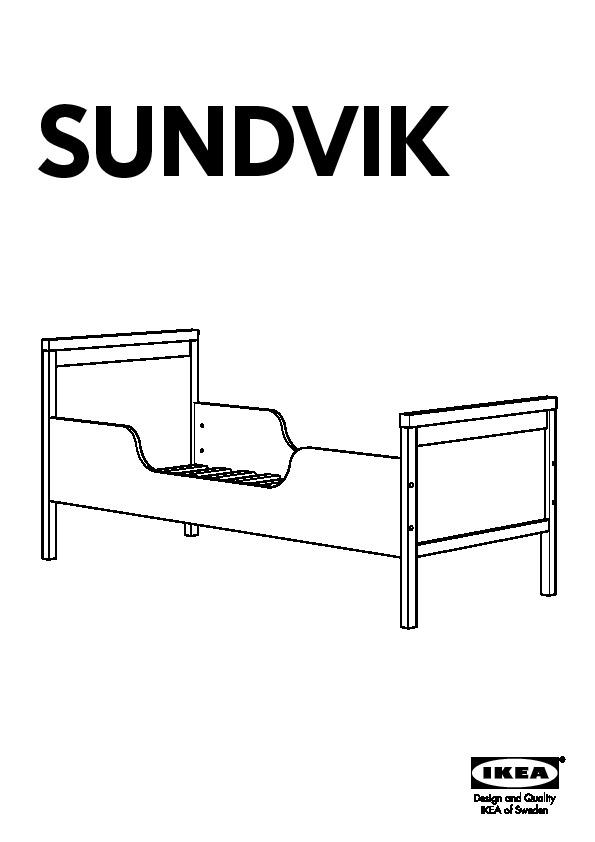 SUNDVIK Bed Frame With Slatted Base White IKEA United States