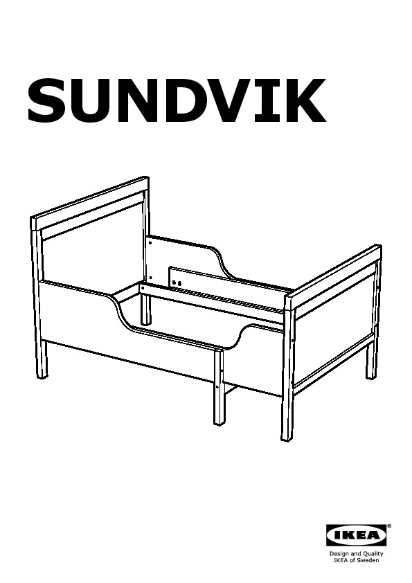 sundvik struct lit ext av sommier lattes blanc ikea. Black Bedroom Furniture Sets. Home Design Ideas