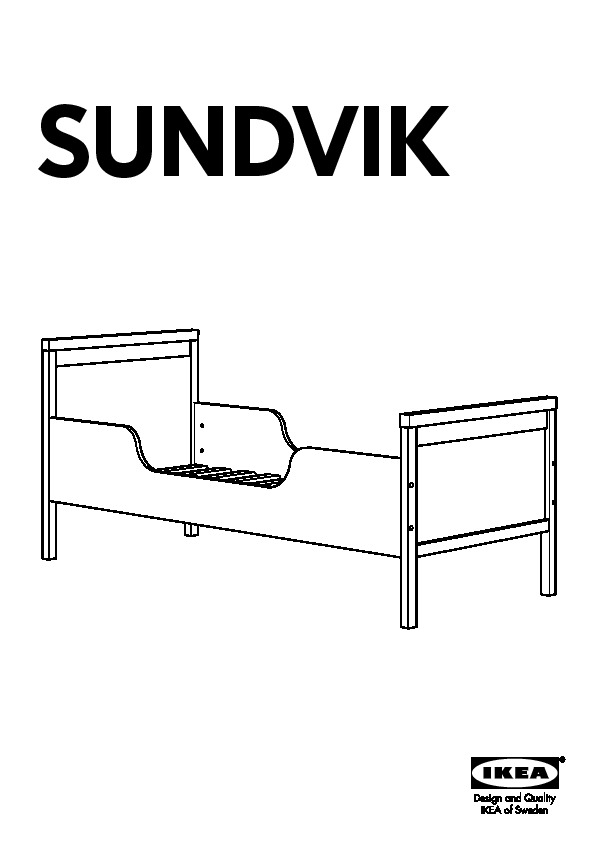 sundvik cadre lit sommier lattes blanc ikea france ikeapedia. Black Bedroom Furniture Sets. Home Design Ideas
