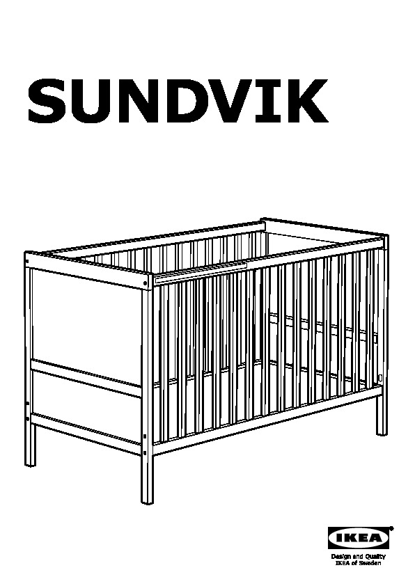Sundvik Crib White Ikea United States Ikeapedia