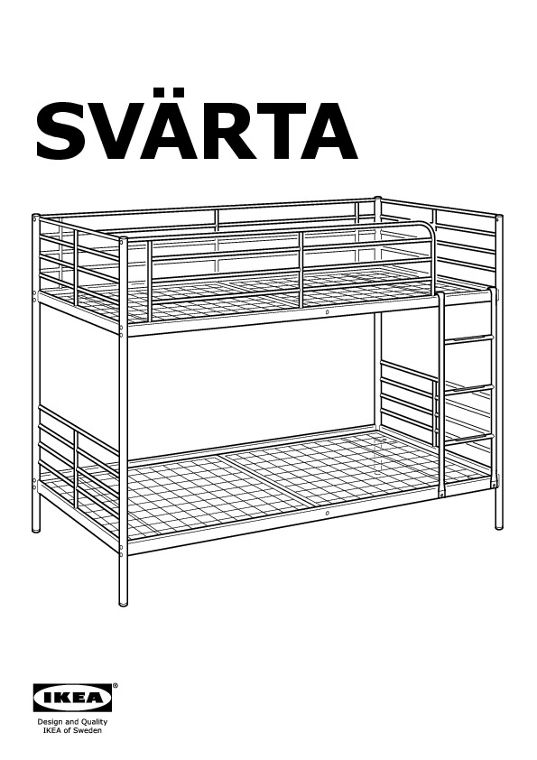 Svarta Bunk Bed Frame Silver Color Ikea Canada English Ikeapedia