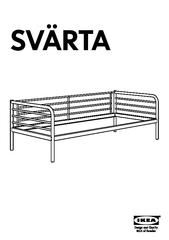 Sv rta day bed frame with slatted bed base silver colour for Manuel ikea daybed