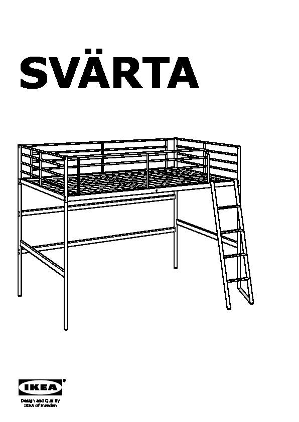 sv rta loft bed frame silver color ikea canada english ikeapedia. Black Bedroom Furniture Sets. Home Design Ideas