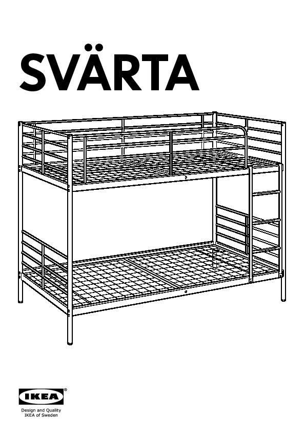 sv rta structure lits superpos s couleur argent ikea. Black Bedroom Furniture Sets. Home Design Ideas