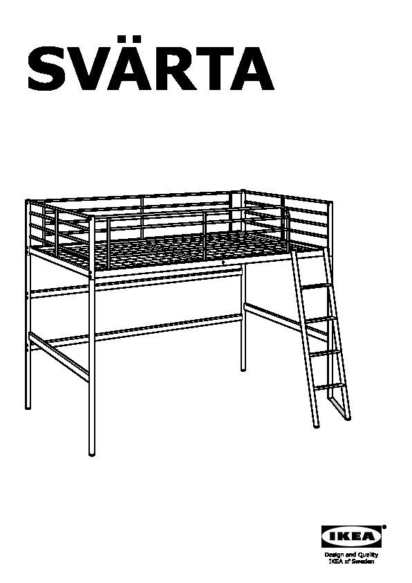 Sv rta struttura per letto a soppalco color argento ikea - Struttura letto a soppalco ...